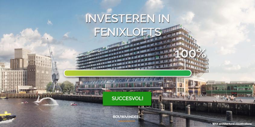 Crowdfunding voor Fenixlofts succesvol